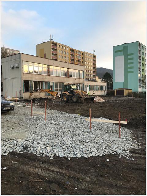 Úprava terénu před stavbou