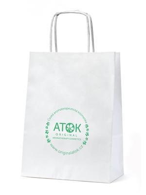 Doplňkový materiál - Papírová taška logo ATOK - D0011 - 1 ks